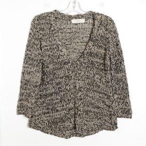 Zara knit loose fit oversized soft sparkle v-neck